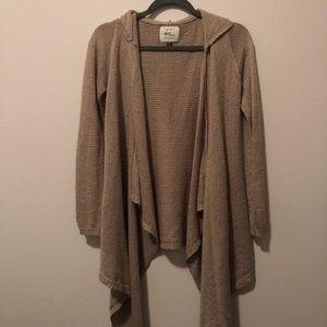 Sweaters - Pacsun Tan Cardigan with Hood
